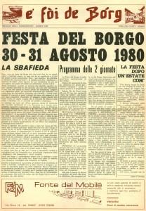 FOI DE BORGH AGOSTO 1980