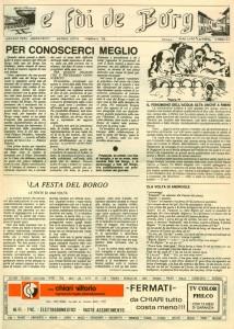 FOI DE BORGH FEBBRAIO 1979