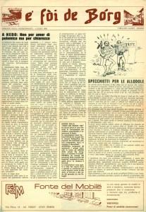 FOI DE BORGH LUGLIO 1980