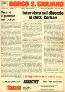 FOI DE BORGH MAGGIO 1974