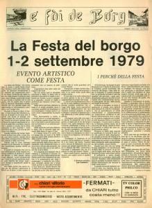 FOI DE BORGH SETTEMBRE 1979