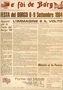 FOI DE BORGH SETTEMBRE 1984
